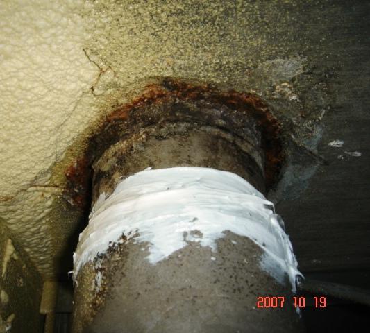 通気管水漏れ1