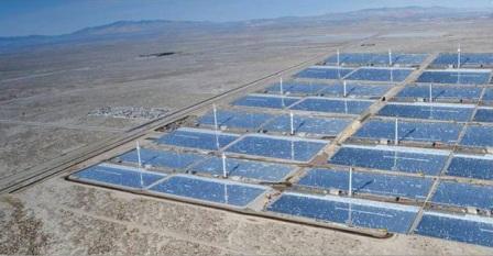 米国で太陽発電施設