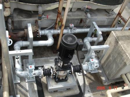 新設冷却水ポンプ