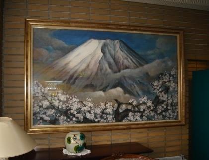 ホテルの日本画