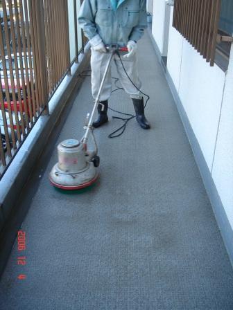 床のポリシャー洗浄